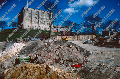 Norwich Castle Mall Under Construction, 1990, Norfolk, England,UK - stmphoto 180709