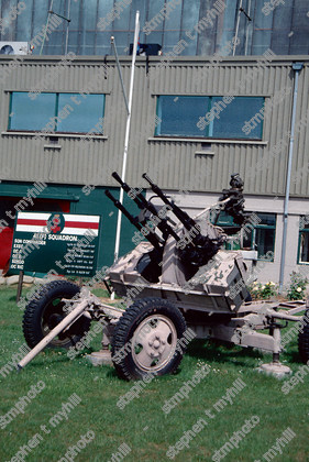 Royal Air Force Coltishall - Captured Iraqi Anti Aircraft Gun - 41 Squadron - stmphoto 180501