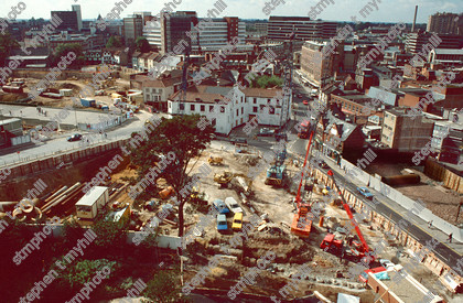Norwich Castle Mall Under Construction, 1990, Norfolk, England,UK - stmphoto 180706